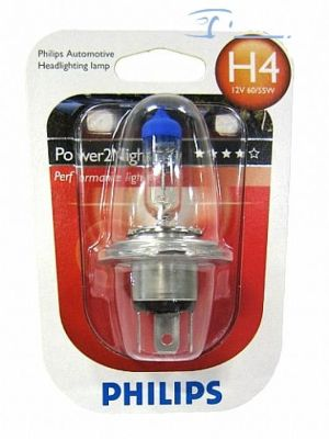 Glühbirne Philips Power2Night 12V H4 60/55W GT150